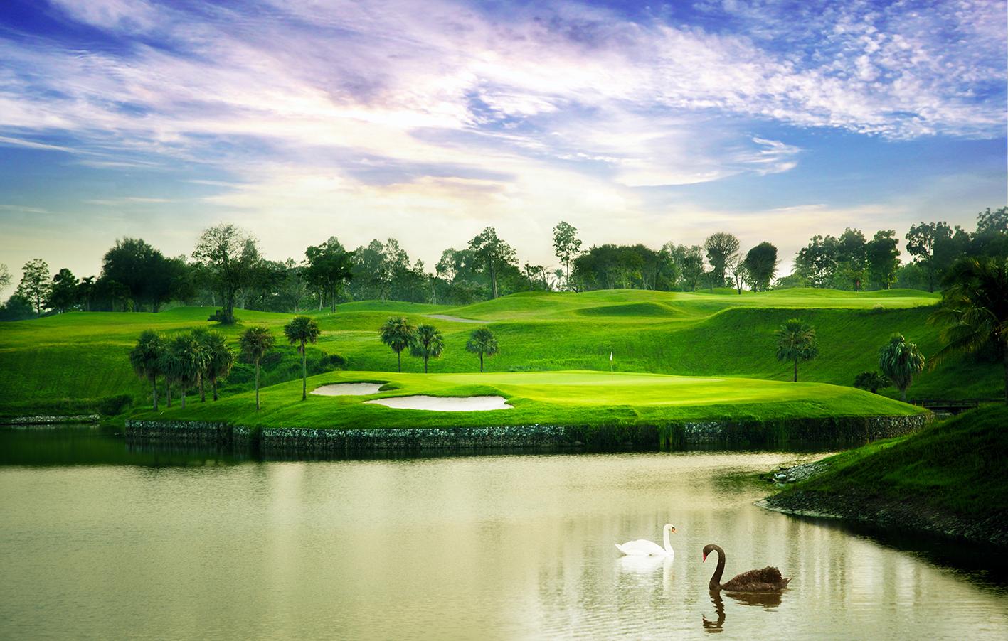 1ラウンド目のゴルフ場